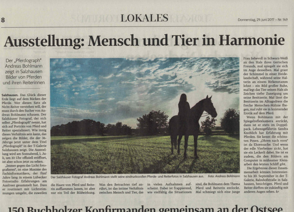 Pferd-O-Graph im Winsener Anzeiger